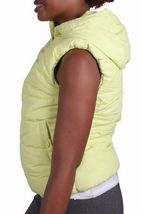 Bench Womens Reflective Yellow Trickster II Gillet Bubble Vest w Hood NWT image 3
