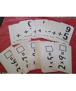 Vintage lot of 29 Flash Cards - $8.00