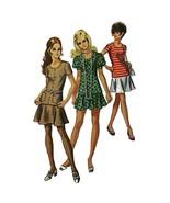 Misses Two Piece Dress Simplicity 8780 Pattern Vintage 1970 Size 10 Sewi... - $5.99