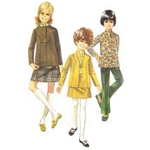 1960s Vintage Simplicity Sewing Pattern 7923 Girls Nehru Jacket Skirt Pa... - $8.95