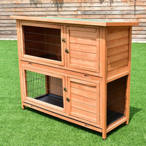"""48"""" Wooden Outdoor Rabbit House Hutch with Ladder - $193.02"""
