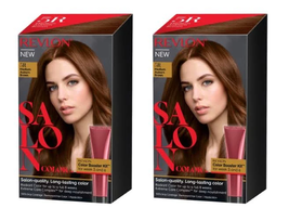 (2) Revlon Salon Color #5R Medium Auburn Brown Color Boost Kit For Week 3 And 6 - $29.10