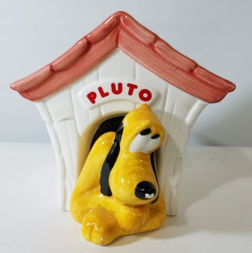RARE CERAMIC PLUTO DISNEY DOG HOUSE CANDY JAR TELEFLORA GIFT FLOWERS FROM MICKEY