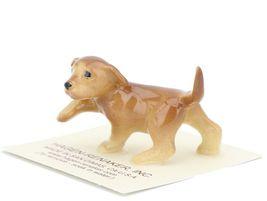 Hagen Renaker Dog Labrador Retriever Puppy Golden Ceramic Figurine image 3