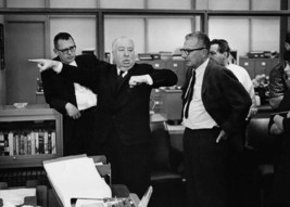 Alfred Hitchcock on set Marnie directing actors in scene 5x7 inch photo - $5.75