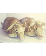 Comfy Feet Armadillo Slippers Novelty Plush Golden Tan Rare NWOT 2000 Re... - $21.24