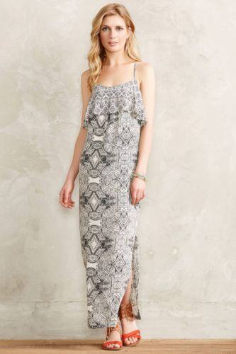 Primary image for NWT ANTHROPOLOGIE FLIESE MAXI DRESS by VANESSA VIRGINIA 4