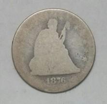 1876CC Seated Liberty Quarter 25¢ Coin Lot# E 56