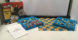 The Simpsons 3D Chess Set Game Collectors Gift Tin Bart Homer Matt Groening - $29.65