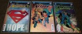 1 2 3 DC Comics Action Comics 987 990 991 NM+ lenticular 3D cover book S... - $5.99