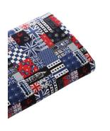 [English Hour]21'' Wide Handworked Patterned Cotton Fabric Black 17.521 ... - $19.66