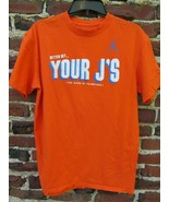 "Men's Nike Air Jordan Jumpman ""Better Get Your J's"" T-Shirt Orange Sz Large - $18.81"
