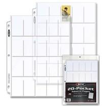 (25) BCW PRO 20-POCKET TOBACCO PAGE Binder Sheet - T206 Tobacco Cards - $7.68