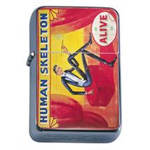 Vintage Freak Show Poster D4 Flip Top Oil Lighter Wind Resistant With Case - $12.82