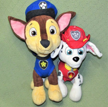 "Paw Patrol TALKING MARSHALL + CHASE Plush Stuffed Dogs Nickelodeon 12"" a... - $26.18"