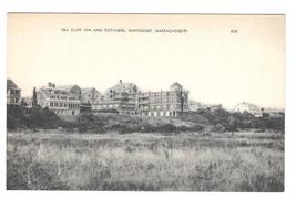 Nantucket MA Sea Cliff Inn and Cottages Vntg American Art Postcard Massa... - $6.69
