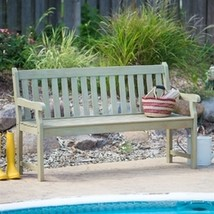 Weather Resistant Outdoor Wood 5-Ft Garden Bench in Driftwood Finish - $230.00