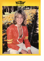Leif Garrett teen magazine pinup clipping red open jacket by yellow fowers hot