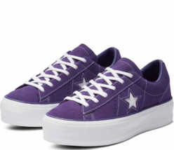 Converse One Star Purple Platform Orchid Leather 563871CShoes 38 EU 5.5 ... - $81.95
