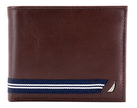 Nautica Men's Genuine Leather Credit Card ID Double Billfold Passcase Wallet image 12