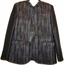 Mondo  Men's Black Brown  Fashionable Blazer Jacket Size 3XL Fit Small - $197.01