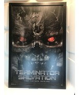 TERMINATOR SALVATION MOVIE - WOOD PAINTED  POSTER With Wood Frame 39x24 - $56.05
