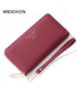 WEICHEN Large Capacity Long Clutch Women Wallets Cell Phone Pocket Card ... - $19.65