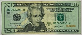 $20 20 dollars Birthday Anniversary Currency Note April 04-06-1951 04061951 image 2