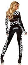 Forplay Women's Finish Line Deluxe Metallic Race Car Driver Costume Set image 2