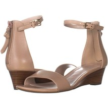 Cole Haan Adderly Wedge Ankle Strap Sandals 497, Nude, 5 US - $62.39