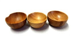 Martha Stewart - 3 piece wooden oriental style condiment serving bowls - $6.81
