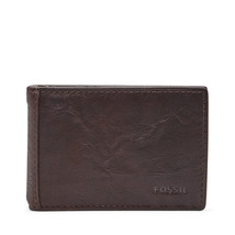 fossil man genuine Leather wallet Neel Money Clip Bifold - $22.00