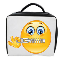 EMOJI ZIP MOUTH LUNCH BAG 3 COLOURS AVAILABLE - CAN BE PERSONALISED SCHOOL - $20.85