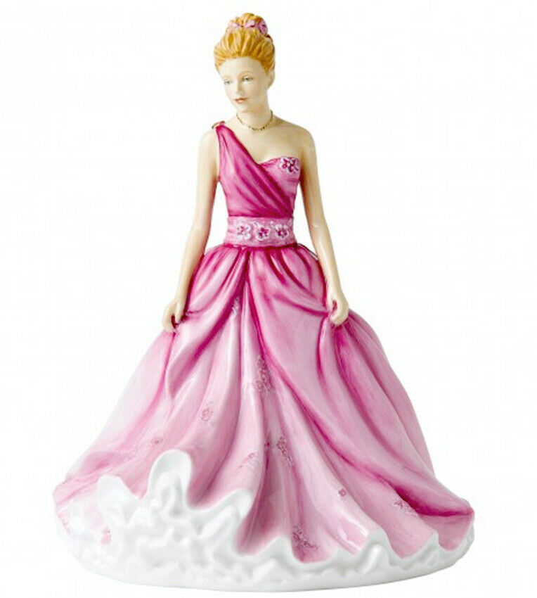 Royal Doulton Linda Figurine HN5605 in Pink Dress Signed by Michael Doulton New - $329.90