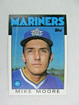 Mike Moore Seattle Mariners 1986 Topps Baseball Card Number 646 - $0.98