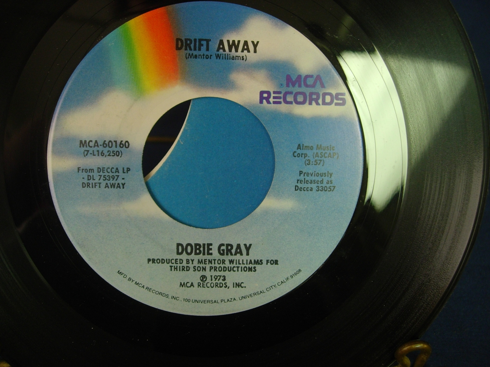 Dobie Gray - Drift Away / City Stars - MCA 60160