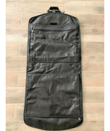 Club Class Black Leather Garment Bag with Carry Handle & Adjustable Strap - $113.85