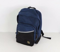 Vintage 90s Eddie Bauer Spell Out Patch Reflective Nylon Backpack Book B... - $34.60