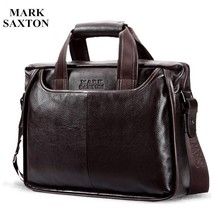 Real Leather Men Bag Shoulder Laptop Messenger Vintage Satchel Business Handbag - $117.20