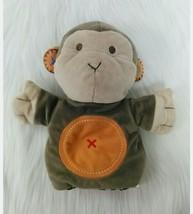 "9"" Carters Brown Monkey Plush Soft Hand Puppet Baby Toy Tan Orange #4943... - $9.99"