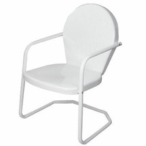 "LB International 34"" White Retro Metal Outdoor Tulip Chair - €65,53 EUR"