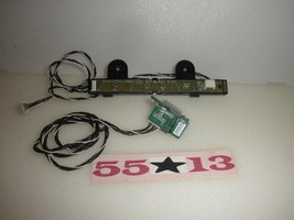 Hitachi LE55V707 TV Keyboard Controller & IR SENSOR W/CABLES - $24.70