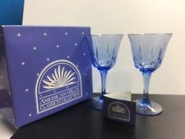 Avon American Blue Classic Collection by Fostoria Pair of Water Goblets NEW - $34.99