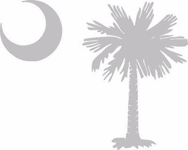 "Palmetto tree and moon Raw Metal Wall Art  Tree  approx 8""  Moon 3"" - $9.89"