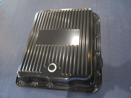 Black Steel  700R4  Finned Transmission Pan w/Bolts --RPC 7599BK  Chevy Auto. - $35.00