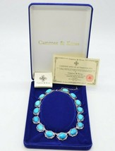 Camrose Kross JBK Faux Turquoise Blue Howlite Silver Tone Necklace COAs New - $98.99