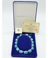 Camrose Kross JBK Faux Turquoise Blue Howlite Silver Tone Necklace COAs New - $98.99