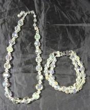 Vintage Aurora Borealis Necklace & Bracelet - $14.24