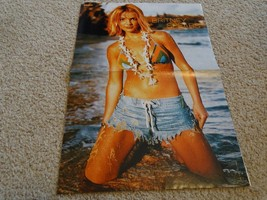 Britney Spears teen magazine poster Swimsuit Jeans Shorts at the Beach - $9.99