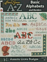 "Leaflet ""A to Z Basic Alphabets & Boarders"" Alma Lynne -Cross-Stitch-Gen... - $7.00"
